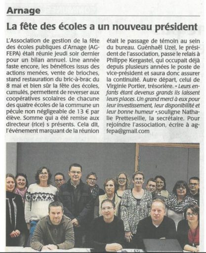 AG AGFEPA 2016 - Article Le Maine Libre du 23/11/2016